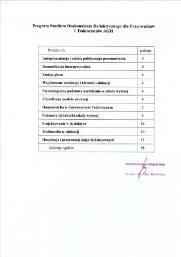 Świadectwo ukończenia strona 2